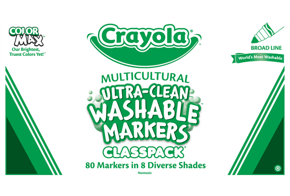 Crayola® Multicultural Ultra-Clean Washable® Marker Classpack®