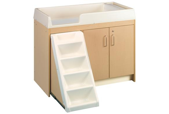 Premium Toddler Changing Table with Trays