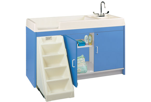 Ultimate Toddler Changing Table with Trays