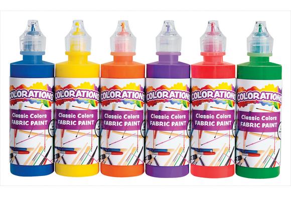 Colorations® Fabric Paint, 4oz. Bottles - Set of 6