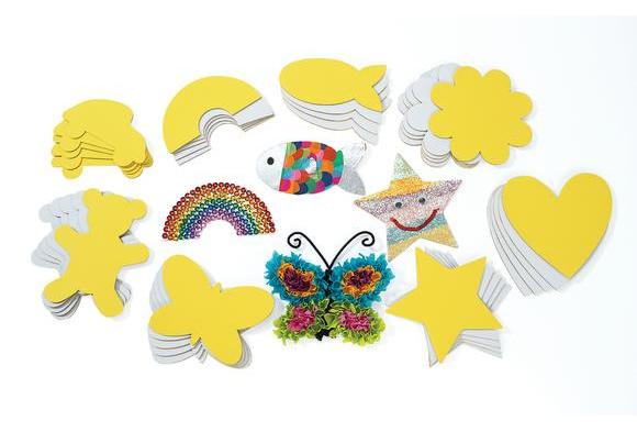 Colorations® Collage Board Shapes - 48 Pieces