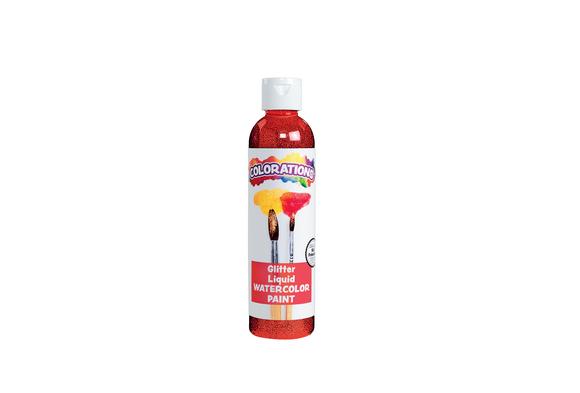 Colorations® Glitter Liquid Watercolo™, Red - 8 oz.