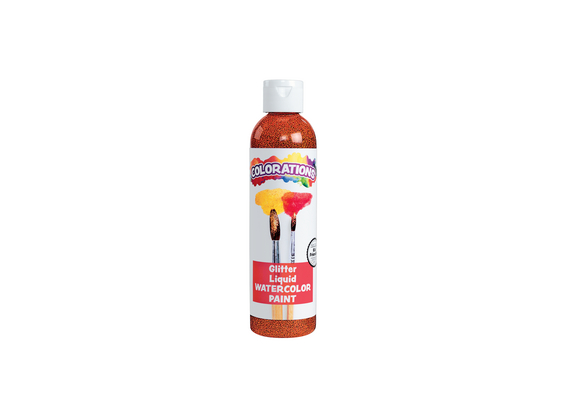 Colorations® Glitter Liquid Watercolo™, Orange - 8 oz.