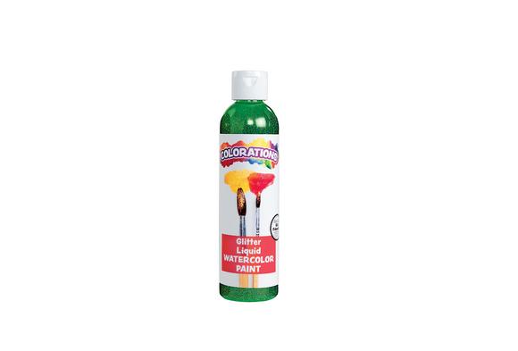 Colorations® Glitter Liquid Watercolo™, Green - 8 oz.