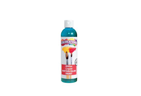 Colorations® Glitter Liquid Watercolo™, Turquoise - 8 oz.
