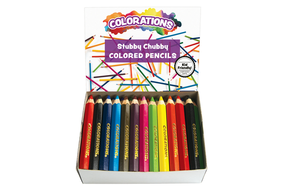 Colorations® Stubby Chubby Colored Pencils - Set of 48