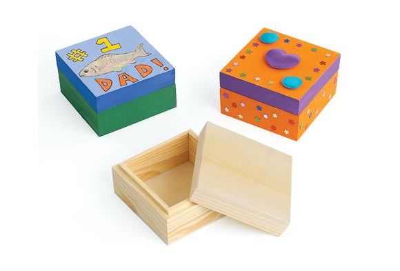 Craft boxes discount school supply for Wooden craft supplies wholesale