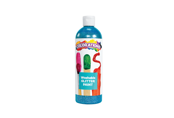 Colorations® Washable Glitter Paint, Turquoise - 16 oz.
