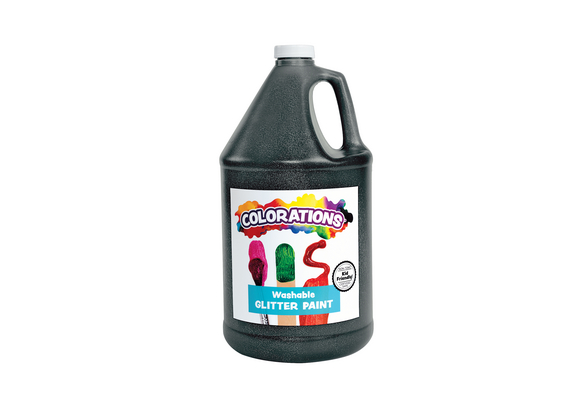 Colorations® Washable Glitter Paint, Black - 1 Gallon