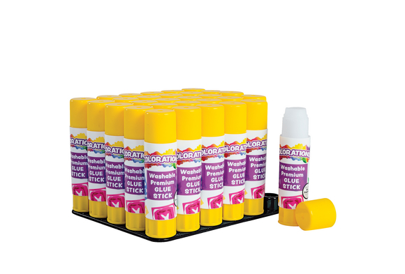 Colorations® Washable Premium Glue Sticks - Set of 30, White