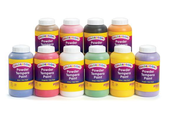 Colorations® Powder Tempera Paint, 1 lb. - Set of All 10