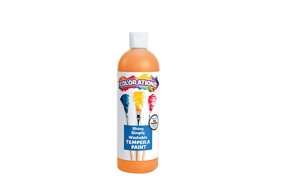 Colorations® Simply Shiny Washable Tempera, Orange - 16 oz.