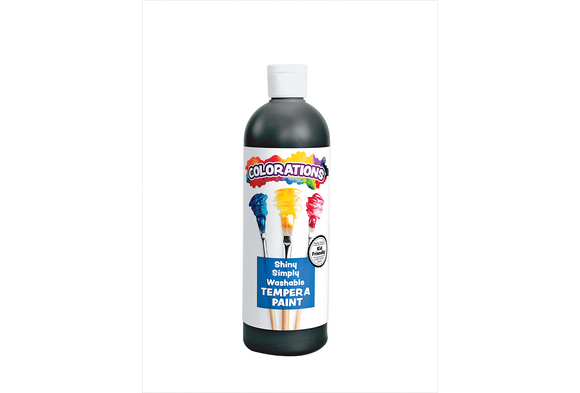 Colorations® Simply Shiny Washable Tempera, Black - 16 oz.