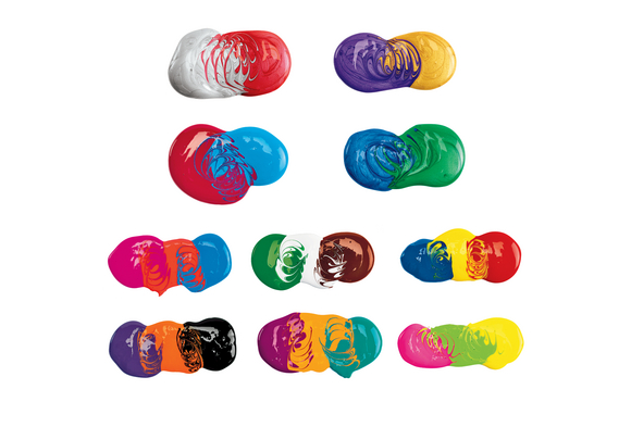 BioColor® Paint, Original, Fluorescent & Metallic Colors, 16 oz. - Set of All 26