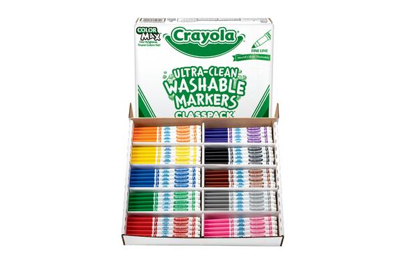Crayola® Ultra-Clean Washable® Fine Tip Marker Classpack® - 200 pieces