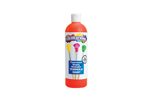 Colorations® Simply Washable Tempera Paint, Fluorescent Red - 16 oz.