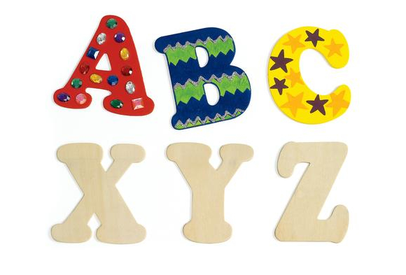 Colorations® Big Wooden Letters - Set of 52