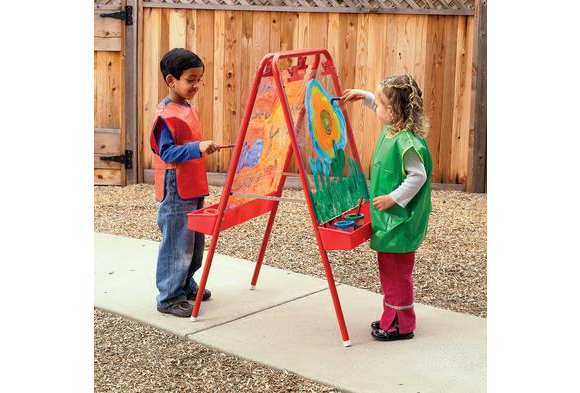 Colorations® 2-Way Indoor/Outdoor Adjustable Acrylic Panel Easel