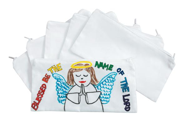 Colorations® Canvas Pencil Bags - Set of 12