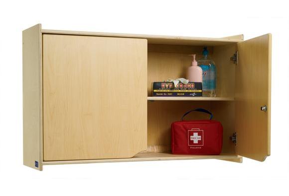 locking wall storage cabinet