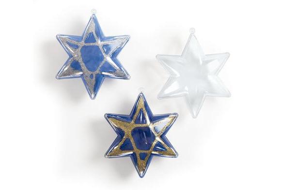 Star of David Ornaments - Set of 12