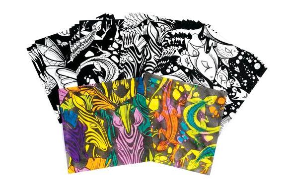 Watercolor Design Paper - 24 Pieces