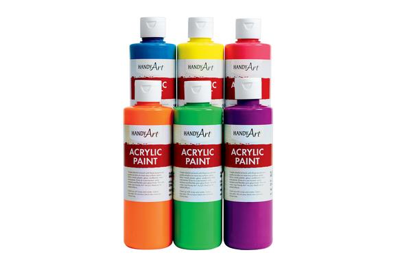 Fluorescent Acrylic Paint - Set of 6