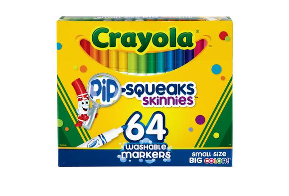 Crayola® 64-Color Washable Pip-Squeaks™ Skinnies Markers