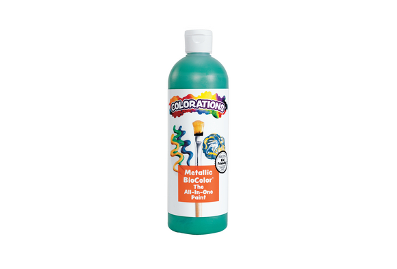 Metallic Green BioColor® Paint - 16 oz.