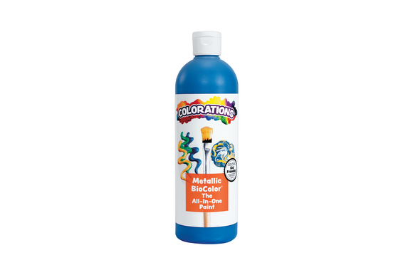 BioColor® Paint, Metallic Blue - 16 oz.