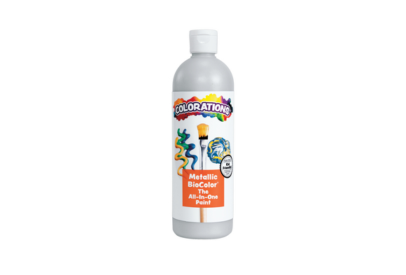 Metallic Silver BioColor® Paint - 16 oz.