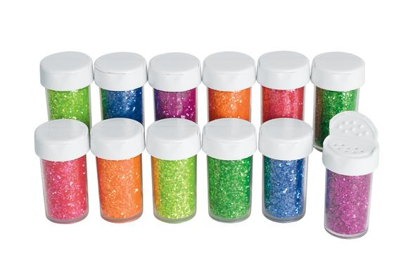 Colorations® Neon Glitter Jars - Set of 12