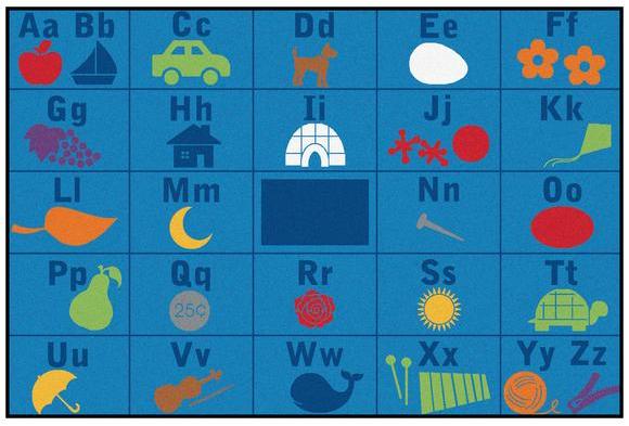 alphabet seating valueplus rug 6u0027 x 9u0027 rectangle