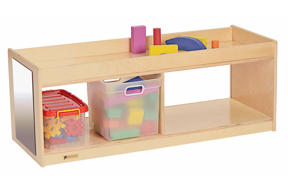 MyPerfectClassroom® Toddler Storage With Clear Back U0026 Mirrors