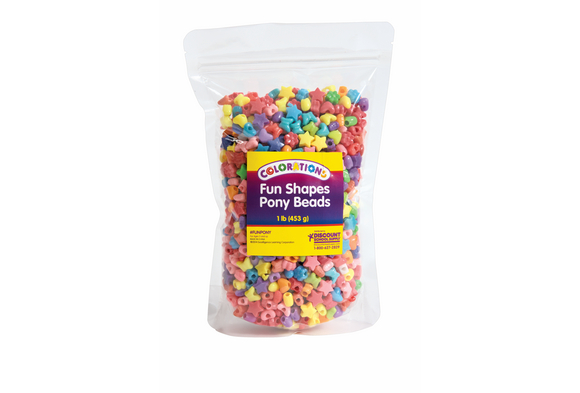 Colorations® Fun Shapes Pony Beads - 1 lb.