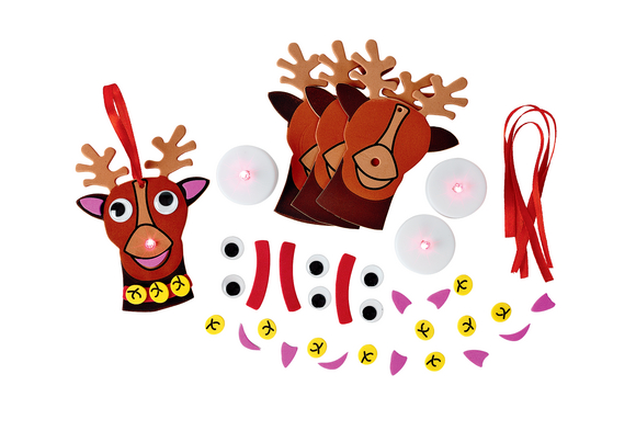 Colorations® Light-Up Reindeer Ornament - Kit for 12