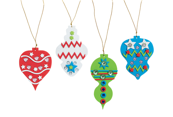Colorations® Fancy Foam Ornaments - Kit for 12