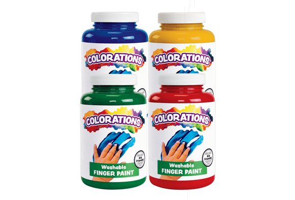 Colorations® Washable Finger Paint -16 oz. 4-Pack