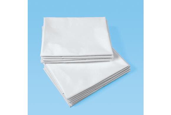 Dozen White Toddler Cot Sheets