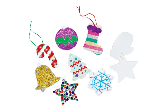Colorations® Cardstock Holiday Ornaments Value Pack Set of 48