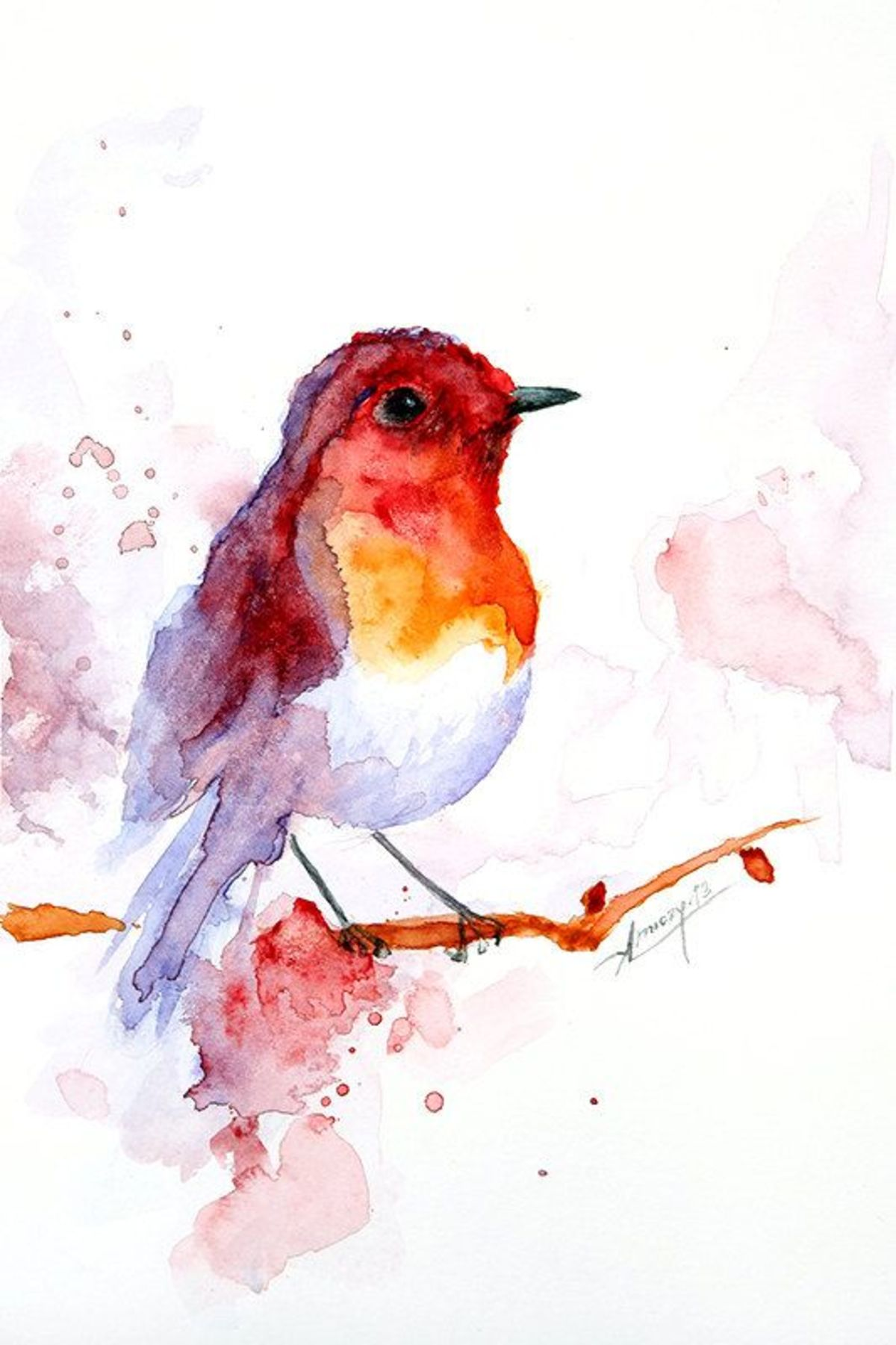 Tiki Web Group Watercolor pictures of birds