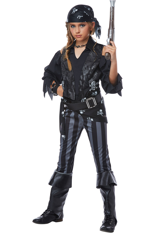 Sharpshooter Treasure Explorer Hunter Rebel Pirate Buccaneer Costume Child Girls