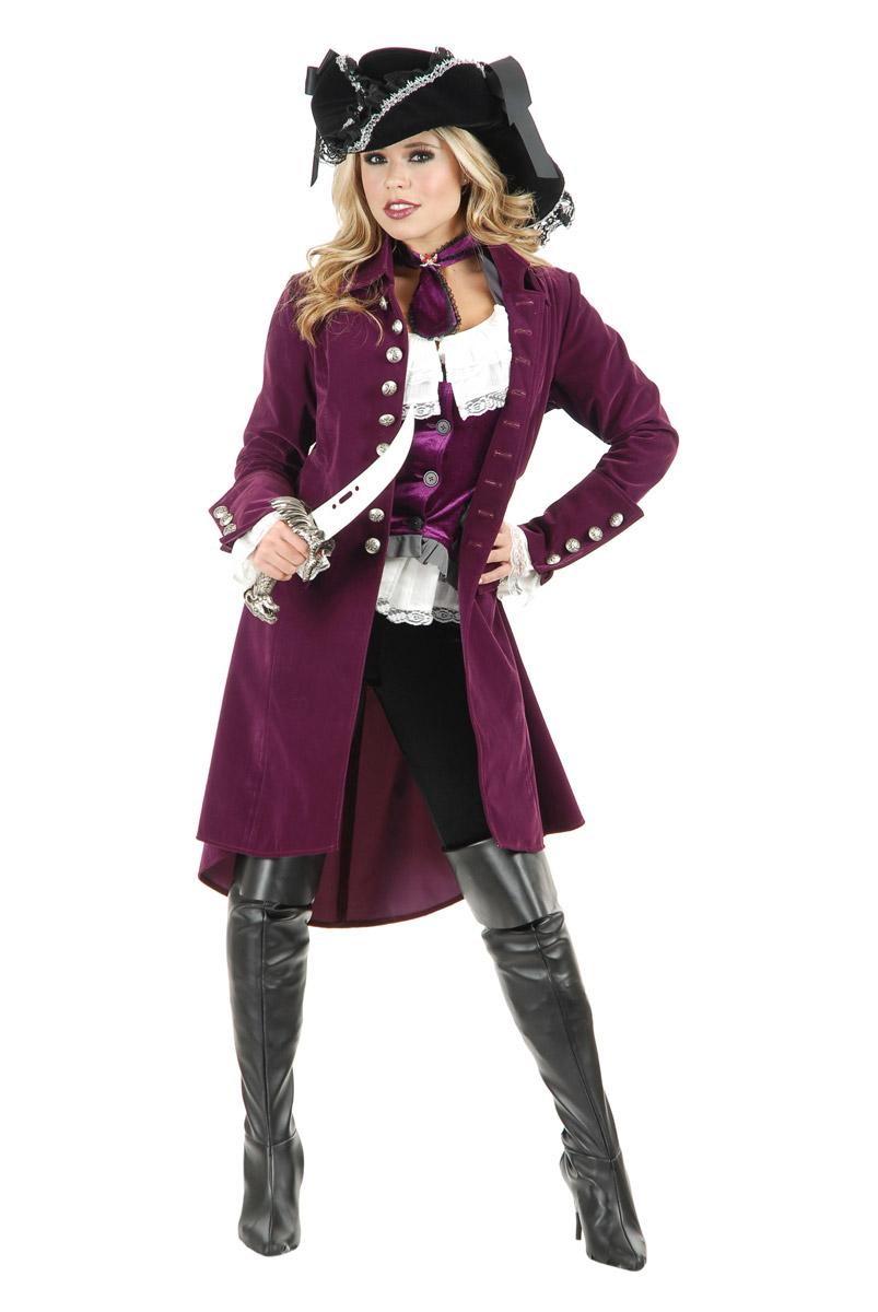 alloween Pirate Treasure Costume Women Hunter Adult Coat Suede Vixen Velvet