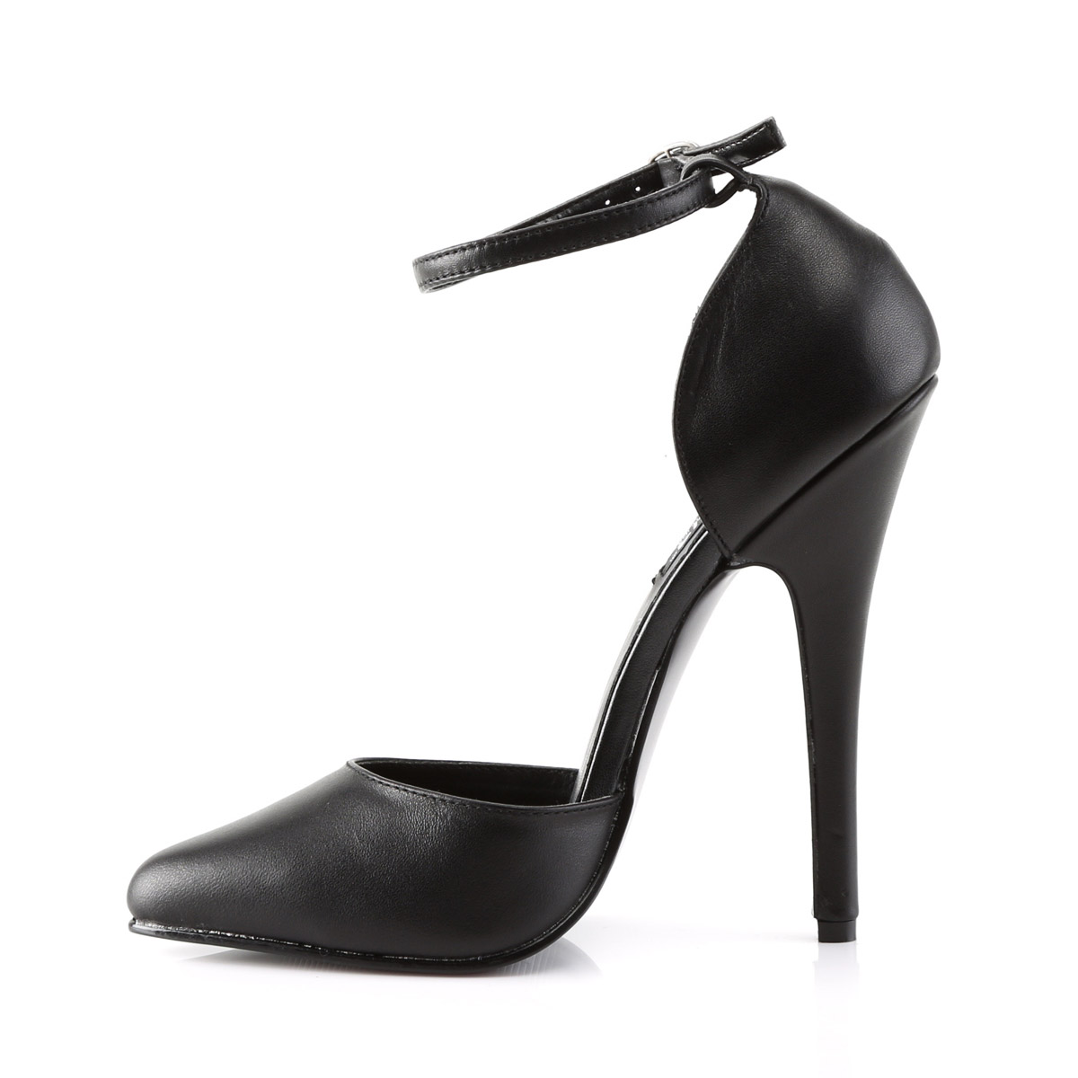 thumbnail 5 - Pleaser Devious Pointed Toe Ankle Strap D'Orsay Pumps Stiletto High Heels