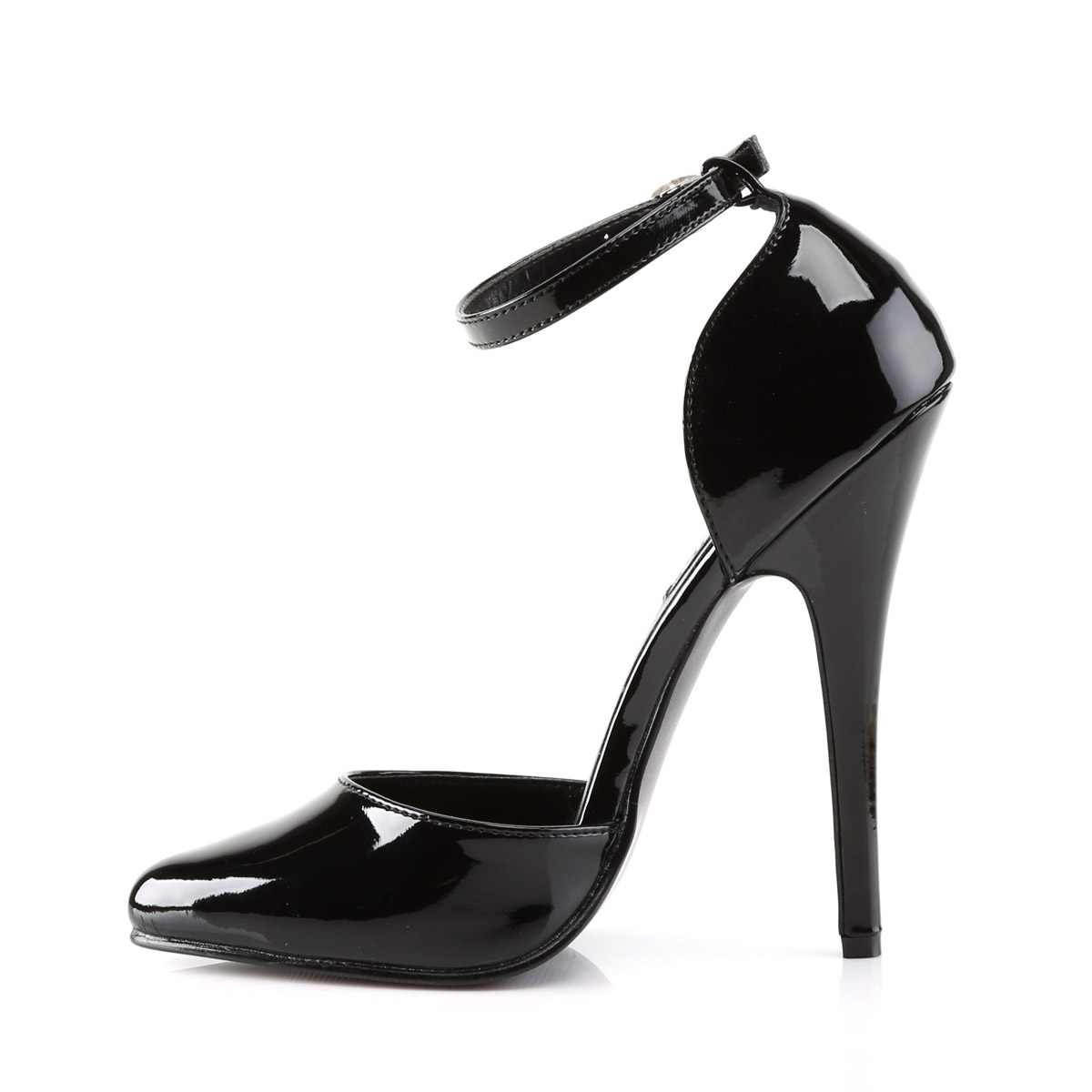 thumbnail 10 - Pleaser Devious Pointed Toe Ankle Strap D'Orsay Pumps Stiletto High Heels
