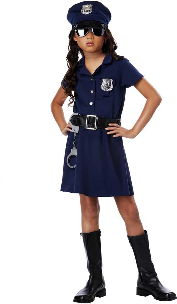 Cute Little Cop Sheriff Deputy Police Officer Uniform Girls Costume Child