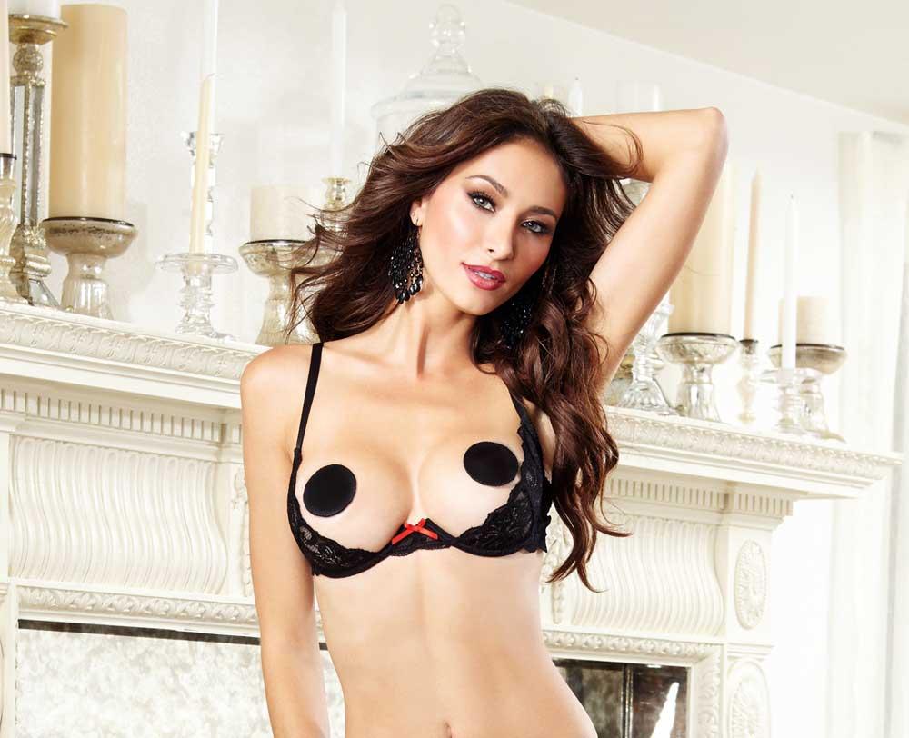 Hot Sensual Open Cup Underwire Lace Shelf Bra Top Nightwear ...