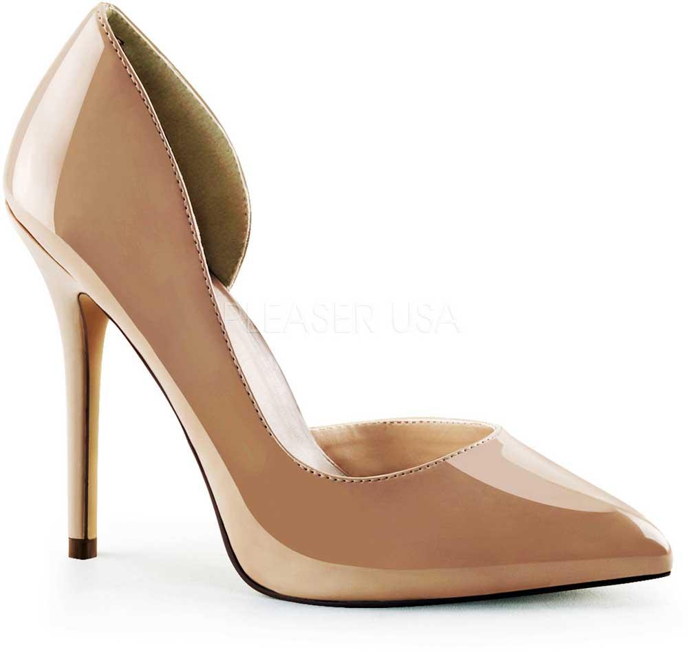 Elegant Half D'Orsay Pointed Toe Pumps Stiletto High Heels ...