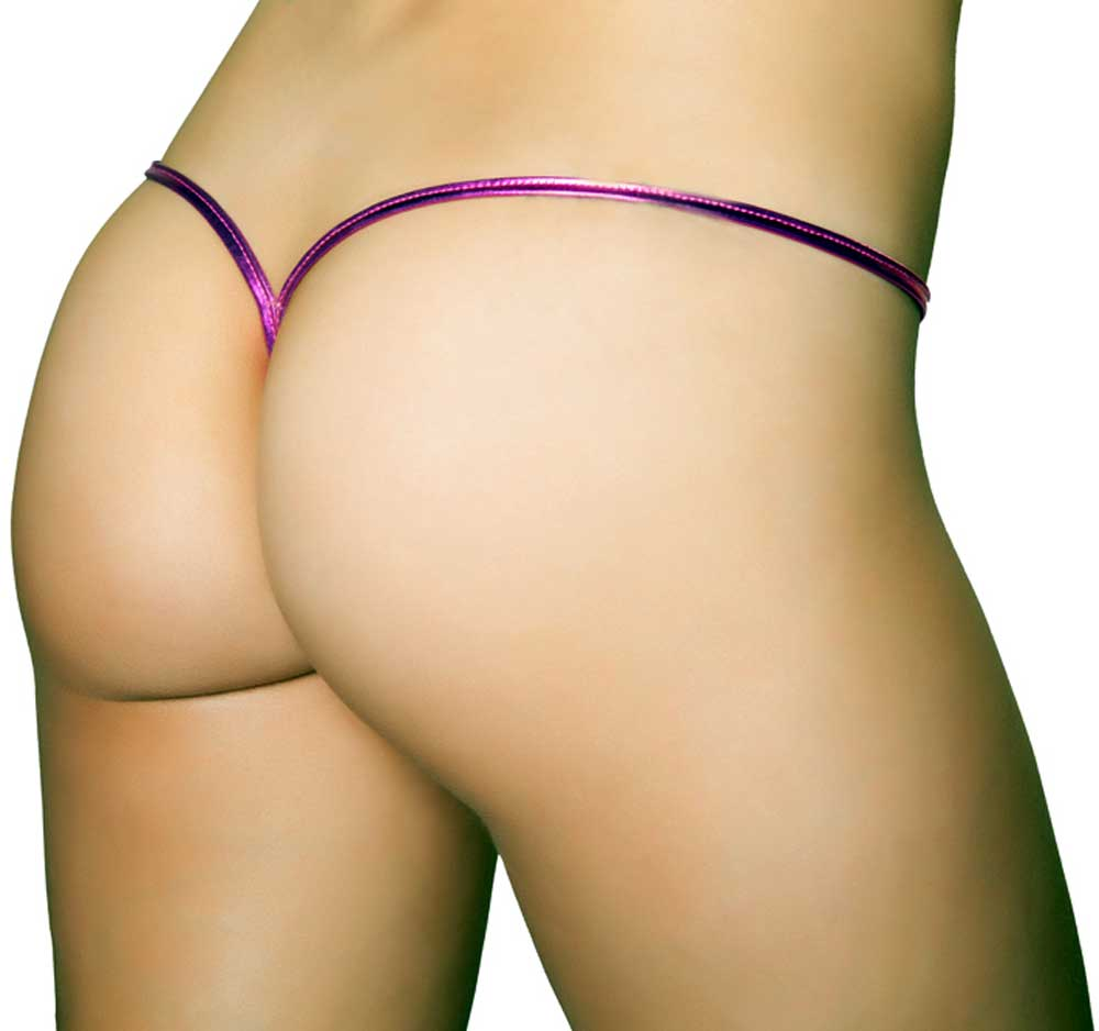 Adult Women Metallic Low Rise G String Back Panties Lingerie | eBay