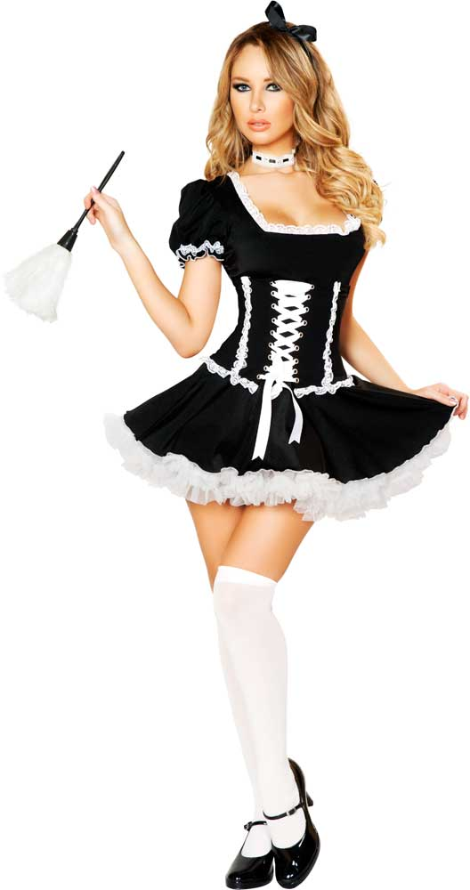 French Woman Halloween Costume Naughty French Maid Se...
